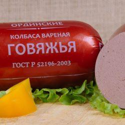 Колбаса вареная говяжья