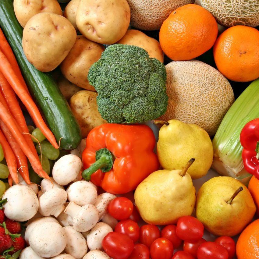 Фрукты и овощи в июле